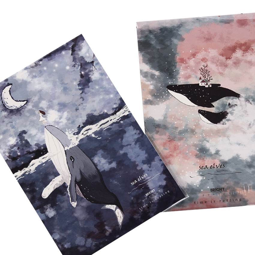 8Packs/lot New Floating Forest Sea Elves 3 Envelopes + 6 Sheets Letter Paper Set For Invitations Cute Office Stationary Supplies