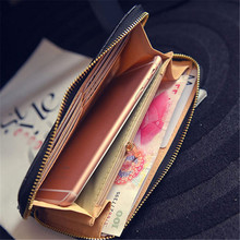 Fashion Women's Wallet and Leather Zipper Long Wallets