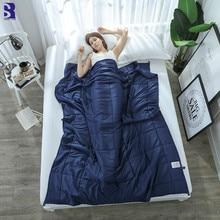 Depósitos de acero de 1 pieza ponderada manta para adulto gravedad mantas de descompresión dormir ayuda presión ponderada Manta