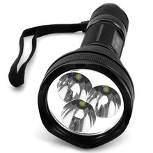 TangsFire 3 x Cree XM-L T6 White Light 1000 Lumens 5 Modes Tactical Flashlight Black