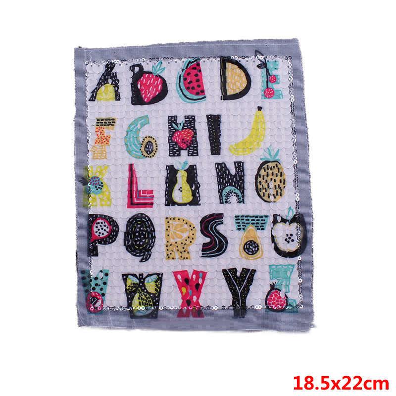 Prajna 26 букв патчи ананас, банан фрукты Стиль Блестки патч для одежды наклейки на куртку DIY полосы на свитер наклейка