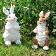 Outdoor Rabbit Figurines For Garden Decoration