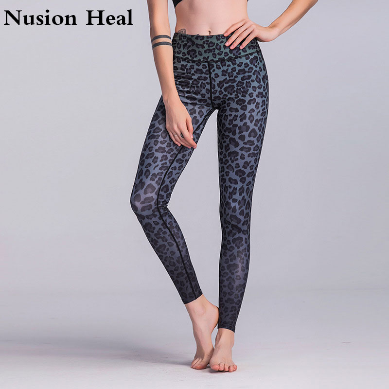 2018 Sexy Yoga Pants Black Sport Leggings High Waist Push Up Fitness Slim Gym Running Ti ...