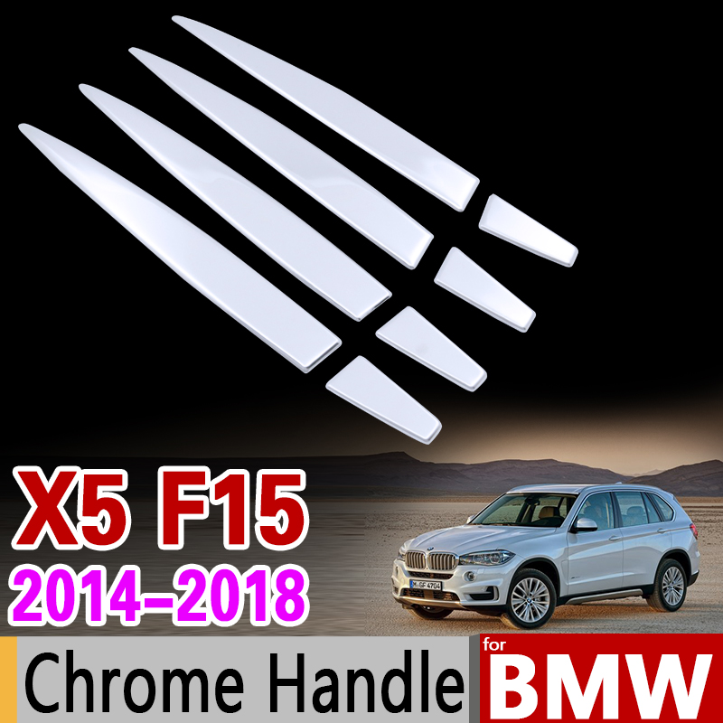 for BMW X5 F15 2014 - 2018 Chrome Stainless Steel Stickers for Door Handle Trim Set for 4Dr 2015 2016 Accessories Car Styling stainless steel car lock pick for bmw 5 7 series