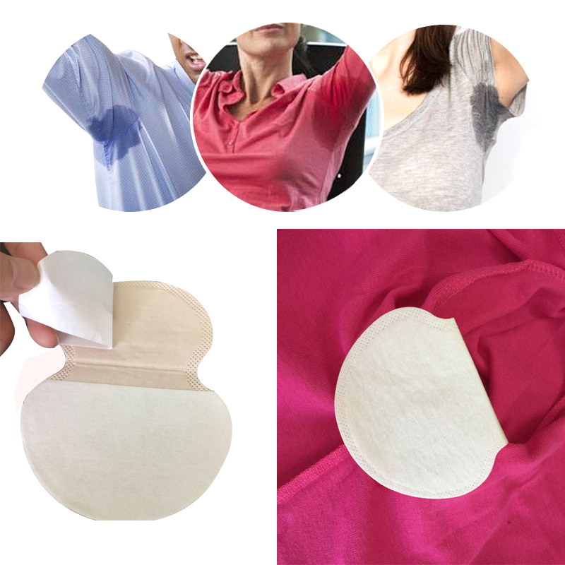 50pc Disposable Armpits Sweat Pads Summer Dress Sweat Perspiration Underarm Pads For Men Women Deodorants Absorbent Cotton Pads