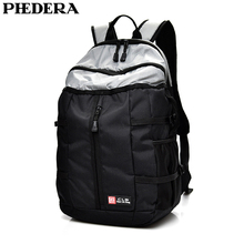 PHEDERA New Travel Backpack with Reflective Stripe Nylon Women and Men Outdoor Sport Backpacks Black Business Computer Bags