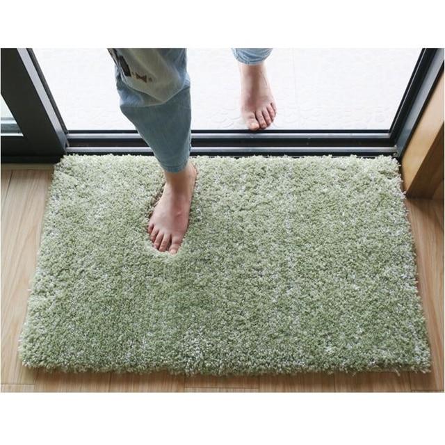 Super Soft Tender Green Floor Carpet Rugs For Home Decor Water Absorbent Bathroom Rug Bath Mat