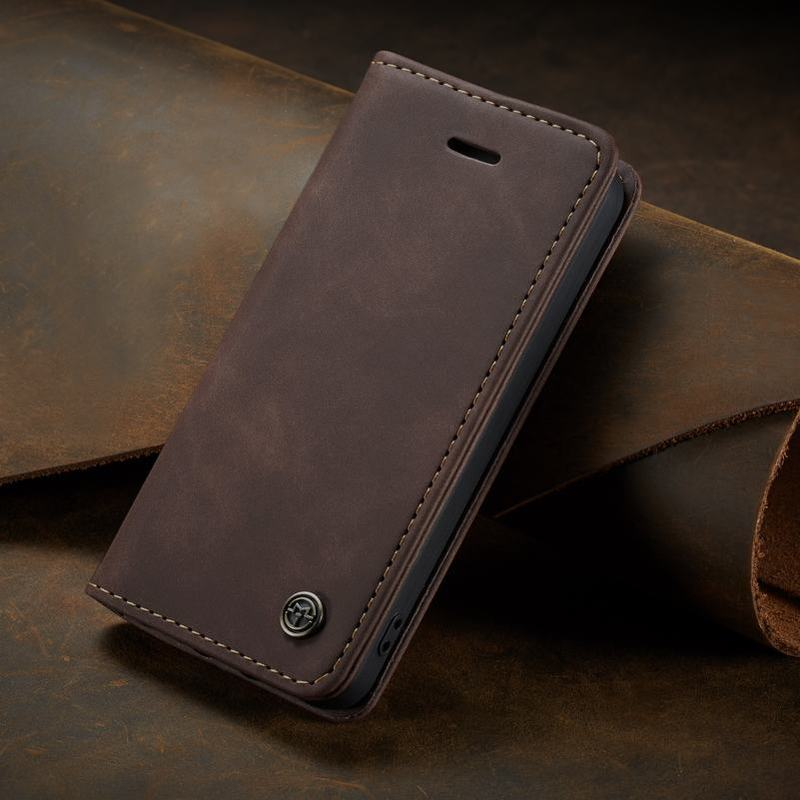 Luxury Flip Case For IPhone 5 5s SE Leather Wallet Coque Iphone 5 S Cover Plain Magnetic Closing Bookcase Business Phone Protect