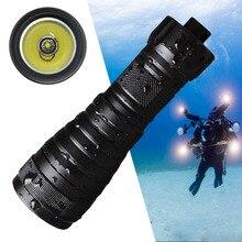 Mạnh Mẽ XML L2 2000LM LED Đèn Pin Lặn Dưới Nước Đèn Pin Lặn Sáng Lặn Đèn Pin Câu Cá Đèn 26650 18650