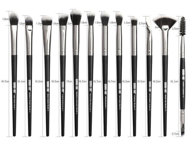 Makeup brushes set professional 12/14 pcs/lot Makeup Brushes Set Eye Shadow Blending Eyeliner Eyelash Eyebrow Brush For Makeup 5