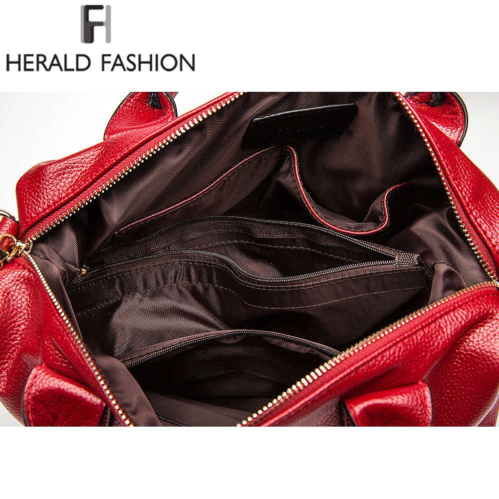 Herold Mode Frauen Handtasche Qualität Weiche Leder Solide Top-Griff Tasche Weibliche Schulter Tasche Kausalen Große Kapazität dame totes