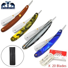 Grandslam Barber Straight Edge Borotva Man Borotva Borotválkozás Kés borotva + Black Knife tasak +20 Biztonsági borotva pengék