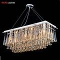 chandeliers dining room Rectangle Crystal Pendant chandelier Light Fitting chandelier Crystal dining room lights bedroom Lamp