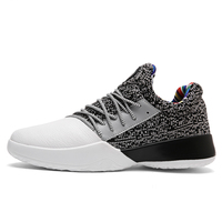 New High Top Basketball Sneakers Men Boys Size 41 45 Authentic Basketball Shoe Leather Black Blue