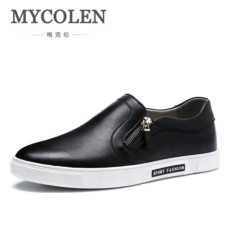 MYCOLEN 2018 New Spring/Summer Classic Shoes Men High Quality Black Men's Shoes Breathable Casual Loafers Men Shoes Schoenen men leather shoes casual 2017 spring summer fashion shoes for men designer shoes casual breathable mens shoes comfort loafers