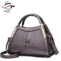 Fashion Women Messenger Bags Alligator Leather Handbags Crocodile Head Crossbody Bag Ladies Party Handbag Shell Shoulder Tote