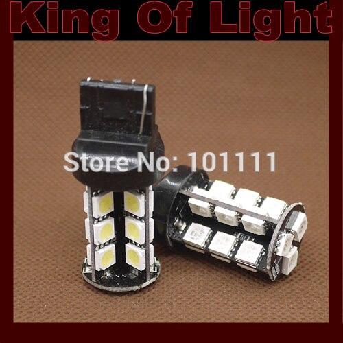 10pcs/lot Canbus W21W 7440 27 SMD 5050 27 LEDs bulb No error lamp car Turn Backup lights Free shipping
