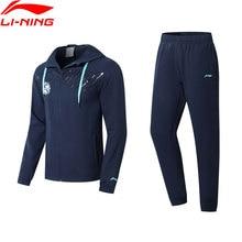 Li ning hommes Puebla Club formation survêtement football vêtements déquipe à capuche veste + pantalon Li Ning doublure sport costumes ensembles AACN007 MSY189