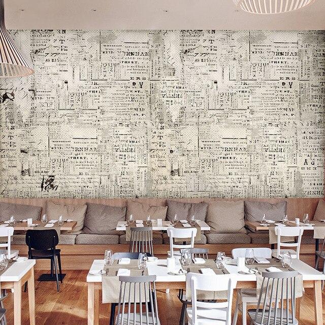 Custom Photo Wallpaper 3D Stereo Retro Black And White Newspaper Mural Lounge Living Room Corridor