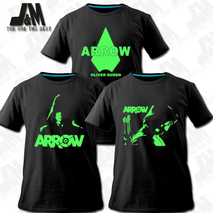 Green Arrow Man Oliver Queen Arrow Cosplay Disfraz Tee Camisetas 3 - Ropa de hombre