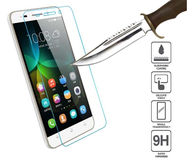 9H Tempered Glass For Huawei Honor 4C 4X 5C 5X 6X 2016 6 7 8 Bee Y5C Y6 Ascend G6 G7 P6 P7 P8 P9 Lite Plus Y625 Y635 Case Film