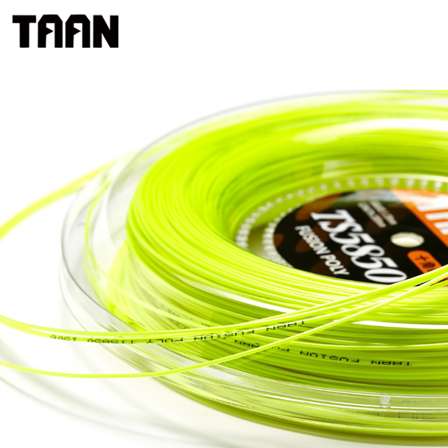TAAN 1.20mm Ten Tennis String Poly Cyclo Decagonal Fusion Polyester Gym Training Tennis Racket String 200m Reel