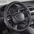Men's Genuine Leather Black Car Steering Wheel Cover For Chevrolet for SAIL for CRUZE LOVE for AVEO for Malibu for TRAX SUV
