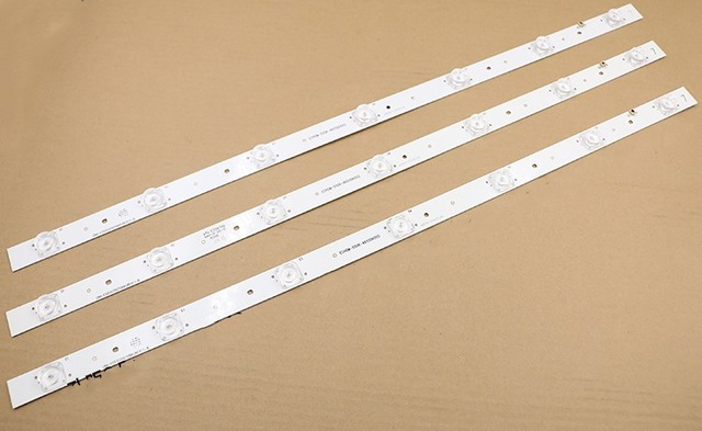 590mm LED Backlight Strip 7 Lamps For Tv E334789 ECHOM-55DK-4655DK005 CRH-E553535070841J REV1.1-B 18v Input