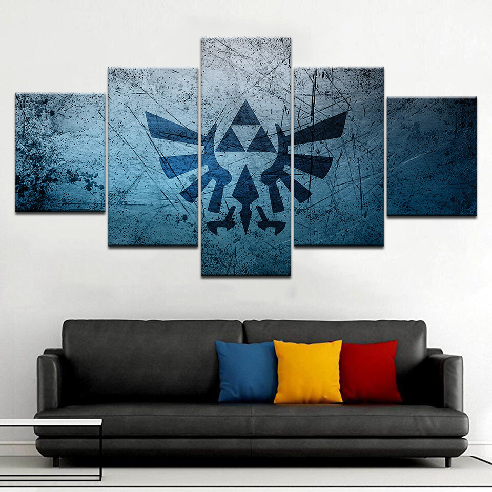 Legend Of Zelda Wall Art.5 Piece Canvas Hd Painting Legend Zelda Game Picture Home Print Poster Wall Art
