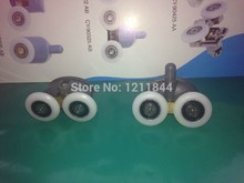 OD:25mm 8pcs Shower room pulley old fashioned sliding door hanging wheel double bouncing single