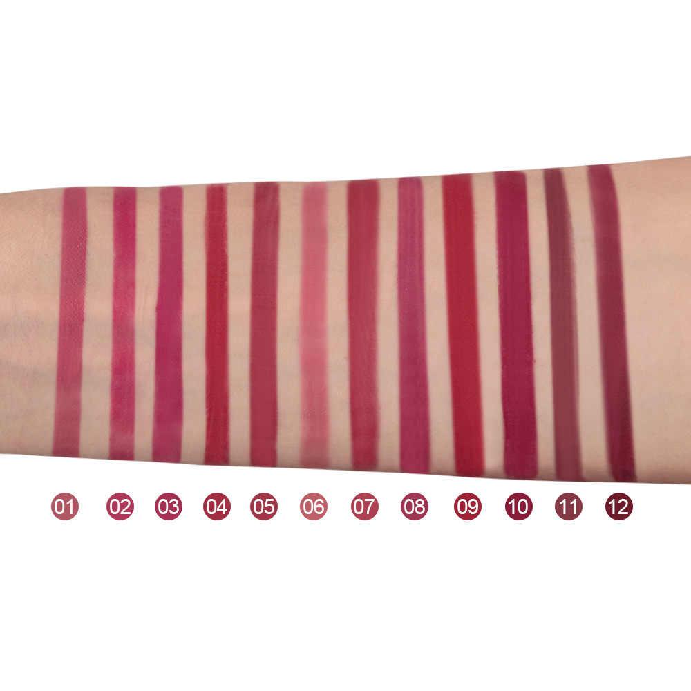 الرائج في ترطيب الشفاه بلسم تغيير درجة الحرارة لون عاري ماتي أحمر الشفاه مستحضرات التجميل الإبداعية النمذجة مثير الوردي كسر #6