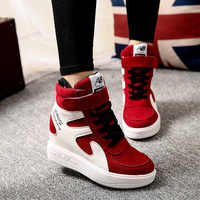 Spring 2018 Women Shoes Increased Internal Canvas Flat Platform Sneakers Ladies Casual Fashion High Quality Luxury Shoes Woman