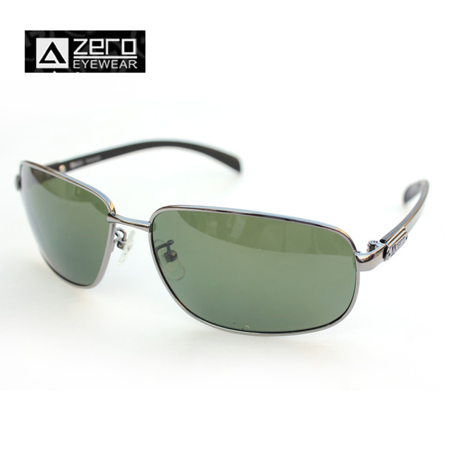 a3034efc5c Men Sunglasses With Brand Logo Man Hipster Retro Fishing Polarized Sun Glasses  Gun Alloy Frame Color Gray-Green Lens A ZERO Z50