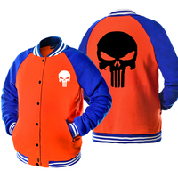 The hipster novelty unisex baseball jackets casual skull printed button brand clothing men women spring autumn tracksuits 2017