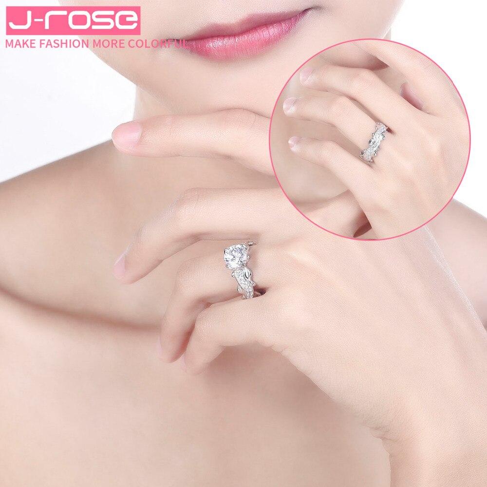Jrose Free Jewelry Box Classic EuropeanEngagem Wedding Rings White ...