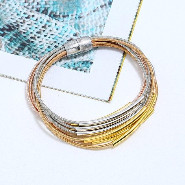 Купить lzhlq длинный металлический панк браслет для женщин модный бренд