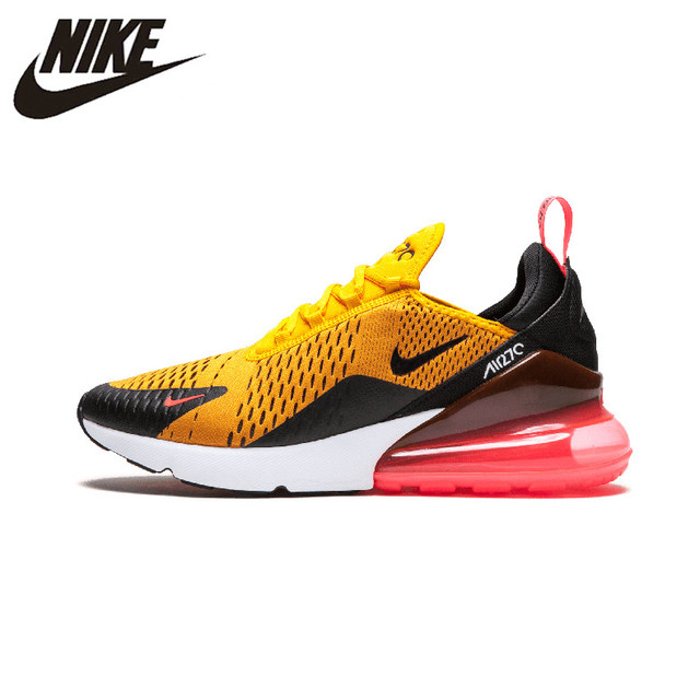 ef06b2129 Nike Air Max 270 180 Running Shoes Sport Outdoor Sneakers Yellow Black Red  Comfortable Breathable Cushioning for Men AH8050-006