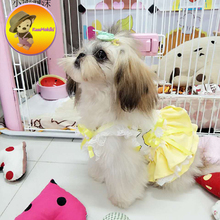 Four Colors Spring Summer Dog Dress Dresses Pet Skirt Skirts cat Clothing Supplies Dog Pet Apparel Personalize Design Hand Made