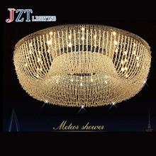 T Luksusowe Duży Okrągły Kryształ Światła Sufit Z G4 LED Oświetlenie żarówki Nowoczesne Proste Kreatywny Kryty Domu Dla Foyer DHL bezpłatne