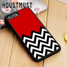 HOUSTMUST TWIN PEAKS CHEVRON PATTERN Case cover For iPhoneS SE 6 6S 7 8 X XR XS max Samsung galaxy S5 S6 S7 edge S8 S9 Plus(China)