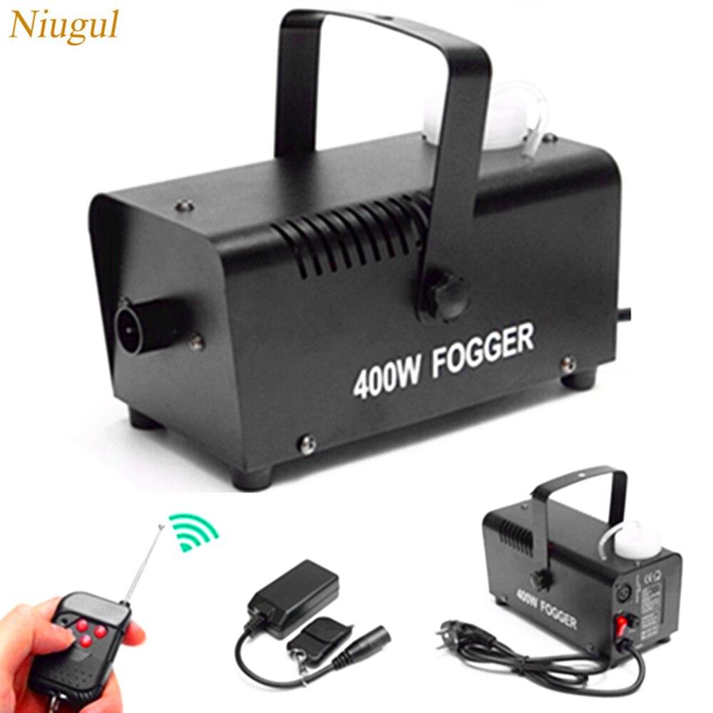 400W Smoke Machine/Remote Wireless Control Fogger Ejector /DJ Christmas Party Stage Fog Machine/400W Mini Smoke Ejector Fogger