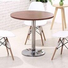 Столы обеденные Обеденная мебель для коммерческих деревянной мебели из нержавеющей стали круглое столик журнальный столик минималистский 60*60*75 см