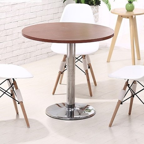 Us 643 99 8 Off Dining Tables Room Furniture Commercial Wood Stainless Steel Round Bar Table Coffee Minimalist 60 75cm In