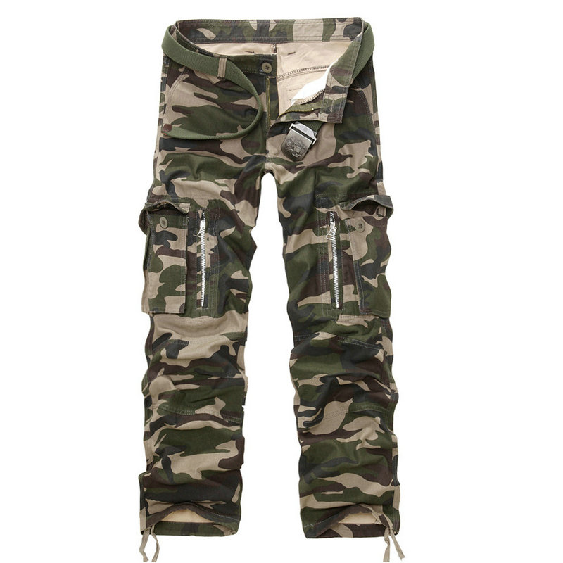 2019 New Good Quality Military Camo Cargo Pants Men Hot Camouflage Cotton Workout Men Trousers Spring Autumn