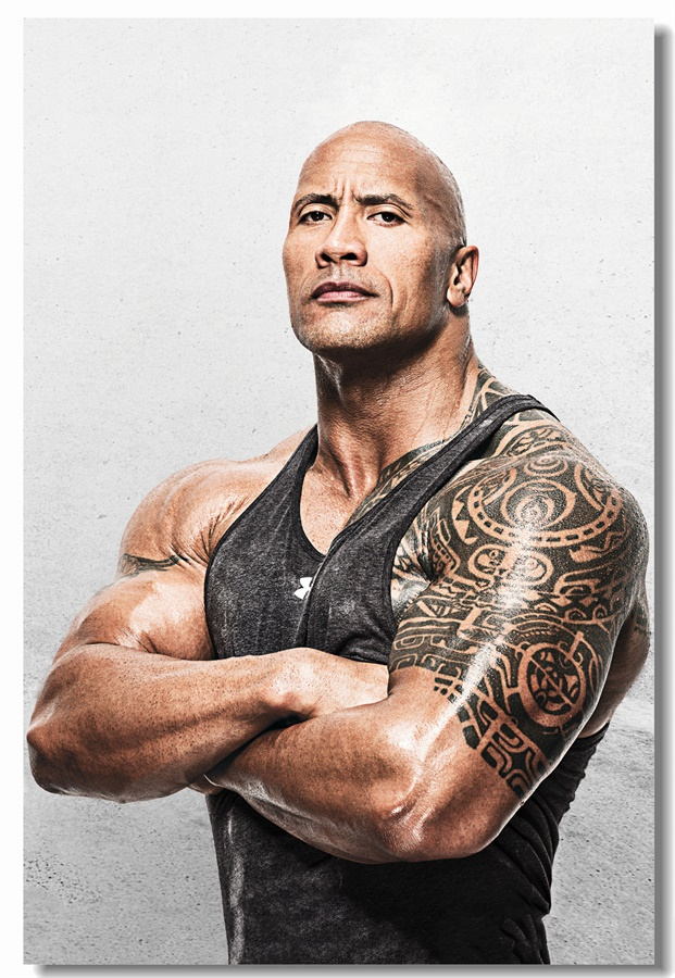 Custom Canvas Wall Decals The Rock Dwayne Johnson Poster Stickers Bodybuilding Wallpaper Cafe Office Mural 0396 With Free Shipping Worldwide Weposters Com
