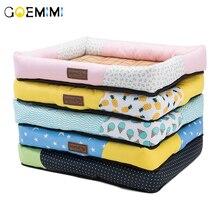 Summer Dog Cat Cushion pet mats Soft Puppy Sleep Bed Kennel Cool Bamboo mat Blanket Matress For Small Medium Large Dogs