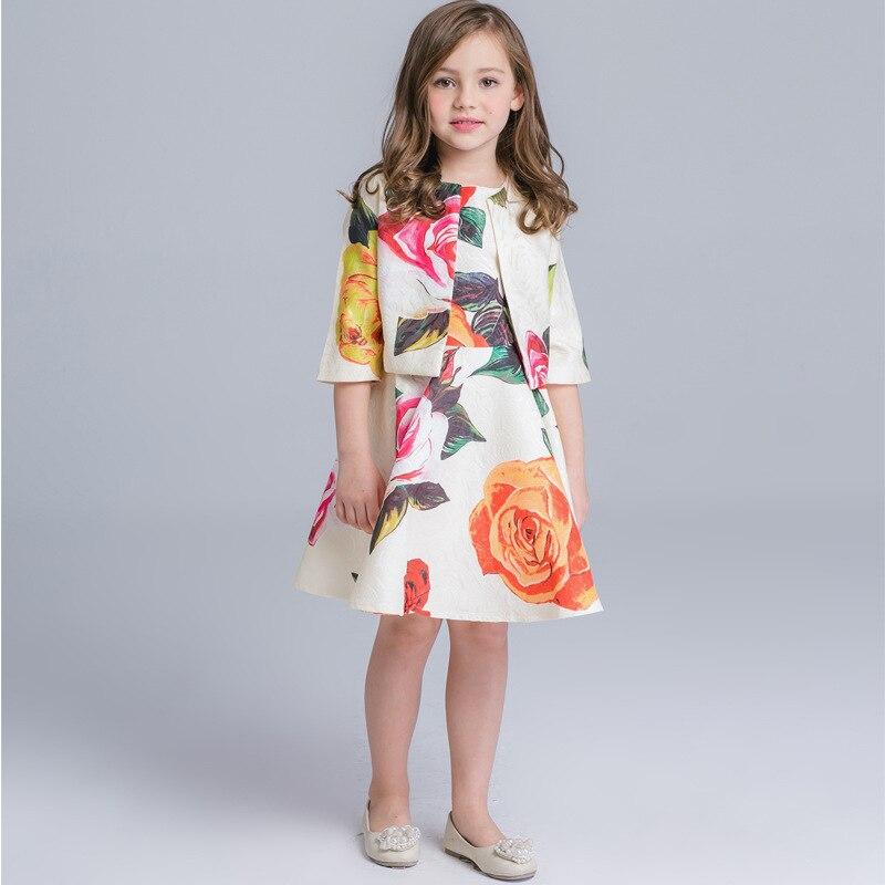 Костюм платье+жакет для девочки | Aliexpress