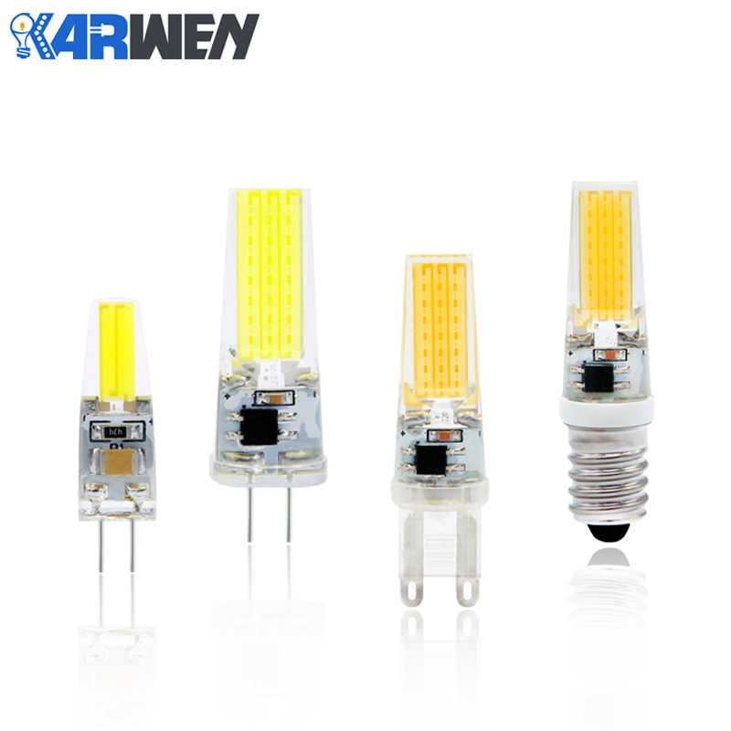 KARWEN LED Lamp COB G4 Bulb Dimmable 3W 6W 9W LED AC/DC 12V 220V Lighting replace Halogen Spotlight Chandelier