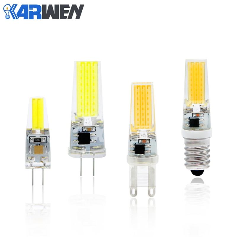 KARWEN LED Lamp COB G4 Bulb Dimmable 3W 6W 9W LED AC/DC 12V 220V Lighting Replace Halogen Spotlight Chandelier