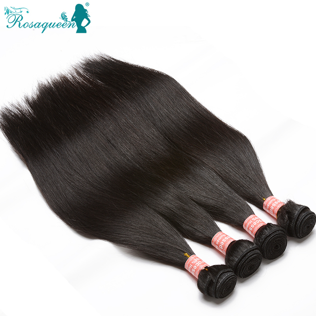 Top Quality Brazilian Straight Hair Unprocessed 8A Mink Brazilian Virgin Hair Straight 4 Pcs/Lot 100% Human Hair Weave Bundles